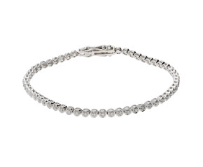 9ct White Gold 0.50ct Diamond Tennis Bracelet