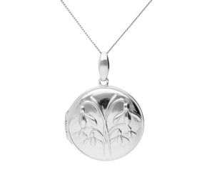 Sterling Silver Snowdrop Locket