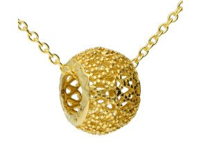 9ct Yellow Gold Open Bead Pendant
