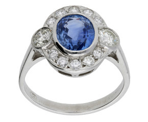 Pre-Owned 1.71ct Sapphire & 0.80ct Diamond Dress Ring