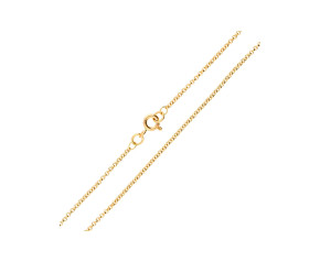 9ct Yellow Gold 1.53mm Baby Belcher Chain