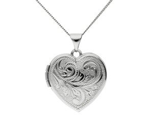 Sterling Silver Traditional Heart Locket