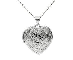 Sterling Silver Traditional Heart Locket