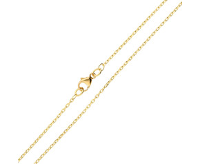 18ct Yellow Gold 1.34mm Filed Trace Chain