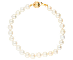 14ct Yellow Gold 6mm Freshwater Pearl Bracelet