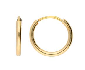 9ct Yellow Gold 13mm Sleeper Hoop Earrings
