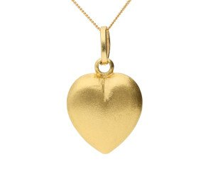 Pre-owned Italian 18ct Yellow Gold Heart Pendant