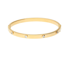 9ct Yellow Gold 6mm CZ Bangle