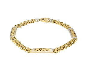 Vintage 9ct Yellow & White Gold Fancy Bracelet