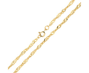 9ct Yellow Gold 3.10mm Twisted Curb Chain