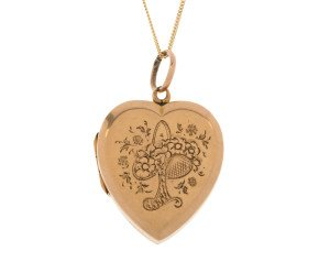 Vintage 1920's 15ct Yellow Gold locket
