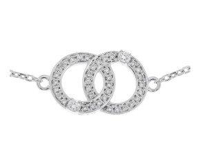 9ct White Gold 0.17ct Diamond Bracelet