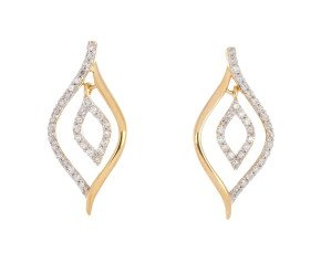 9ct Yellow Gold 0.25ct Diamond Drop Earrings