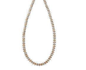 9ct Yellow White & Rose Gold Fancy Necklace