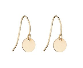 9ct Yellow Gold Circle Drop Earrings