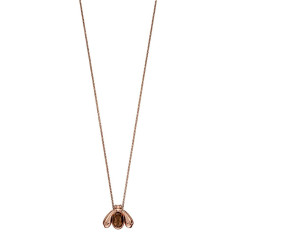 Sterling Silver & Rose Gold Plated Smoky Quartz Bee Pendant