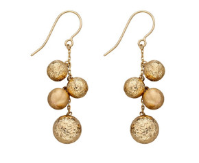 9ct Yellow Gold Fancy Ball Drop Earrings