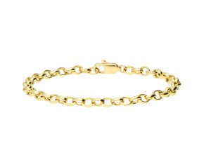 9ct Yellow Gold 5.3mm Belcher Link Bracelet