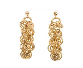 Pre-Owned 9ct Gold Eternal Circles Earrings