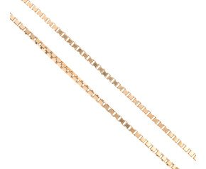 "Vintage 9ct Gold 24"" Brick Link Chain"