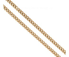 Pre-owned 9ct Yellow Gold Flat Curb Chain