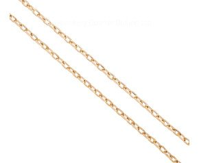 "Pre-owned Italian 9ct Yellow Gold 29.5"" Filed Trace Chain"