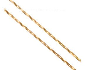 "Pre-owned 9ct Yellow Gold 24"" Italian Curb Chain"