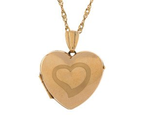 Pre-owned 9ct Yellow Gold Heart Locket
