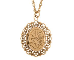 Vintage 1970's 9ct Yellow Gold Fancy Locket