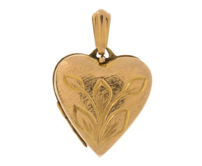 Vintage1970's 9ct Yellow Gold Heart Locket