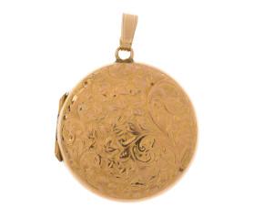 Vintage 9ct gold Front & Back Locket