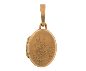 Vintage 1980's 9ct Yellow Gold Oval Locket