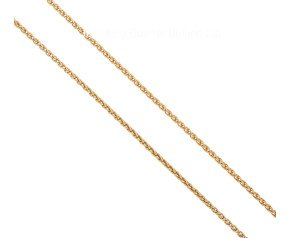 "Pre-owned 18ct Yellow Gold 17.5"" Spiga Chain"