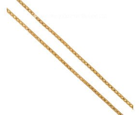 "Pre-owned 17.5"" Fancy Brick Link Gold Chain"
