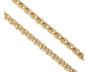 Pre-owned 9ct Yellow Gold 6.20mms Spiga Chain