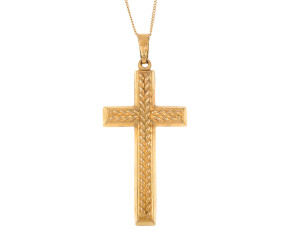 Pre-owned 9ct Yellow Gold Cross Pendant