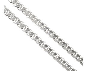 Pre-owned 9ct White Gold Curb Chain