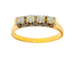 Pre-owned 0.40ct Diamond Four Stone Ring