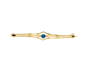 Antique Art Nouveau 15ct Gold Sapphire Brooch