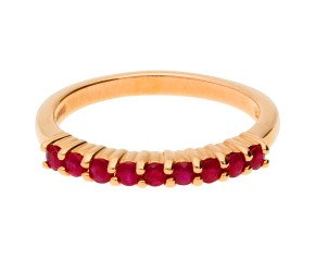 9ct Rose Gold Ruby Eternity Ring
