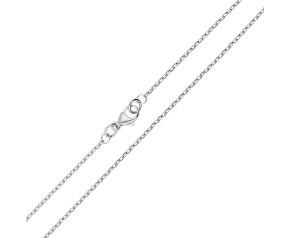 18ct White Gold 1.34mm Filed Trace Chain