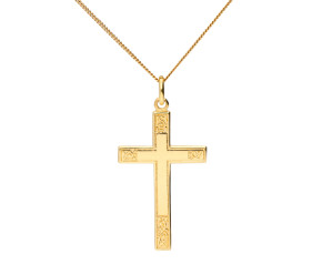 9ct Yellow Gold Cross Pendant
