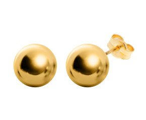 18ct Yellow Gold 8mm Ball Stud Earrings