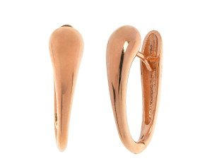 9ct Rose Gold Hinged Hoop Earrings