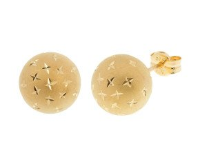 9ct Yellow Gold 10mm Ball Stud Earrings