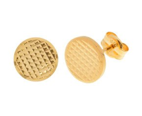 18ct Yellow Gold Round Stud Earrings