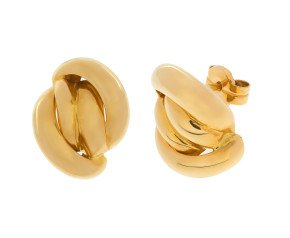 18ct Yellow Gold Fancy Knot Stud Earrings