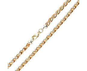 9ct Rose & White Gold Spiga Chain