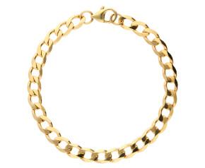 9ct Yellow Gold 6.4mm MetricCurb ChainBracelet