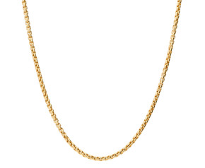9ct Yellow Gold 1.58mm Box Belcher Chain Necklace